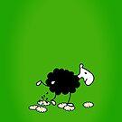 Black Sheep watering Daisies VRS2 by vivendulies