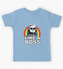 Hillary Clinton Like a Boss Rainbow Kids T-Shirt