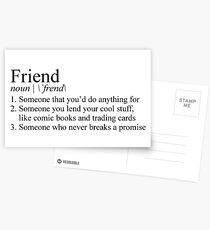 Stranger Things Friend Definition Postcards