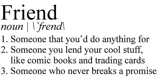 the definition of friend