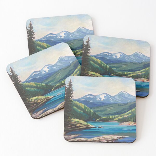 Let's Stop for a Break Coasters (Set of 4)