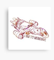 I Aim to Misbehave  Canvas Print