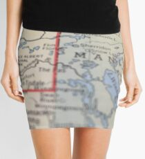 Map to the North Mini Skirt