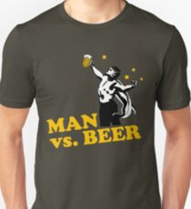 Man vs. Beer Unisex T-Shirt