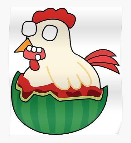 zombie watermelon chicken Poster