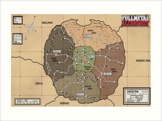 Fullmetal Alchemist Map Fullmetal alchemist brotherhood map