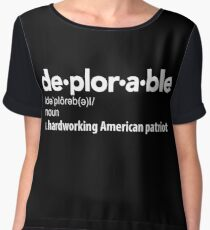 Deplorable Definition: Hardworking American Patriot Chiffon Top