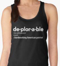 Deplorable Definition: Hardworking American Patriot Women's Tank Top