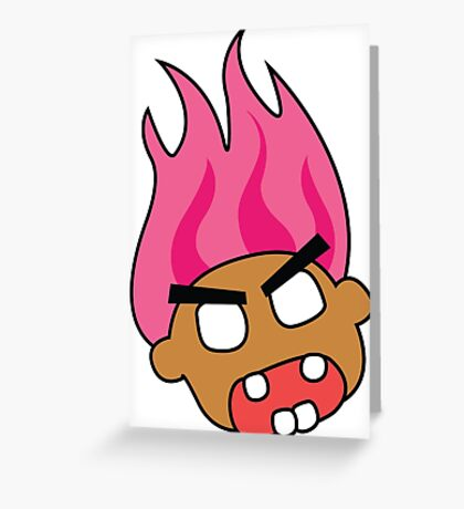 angry zombie troll Greeting Card