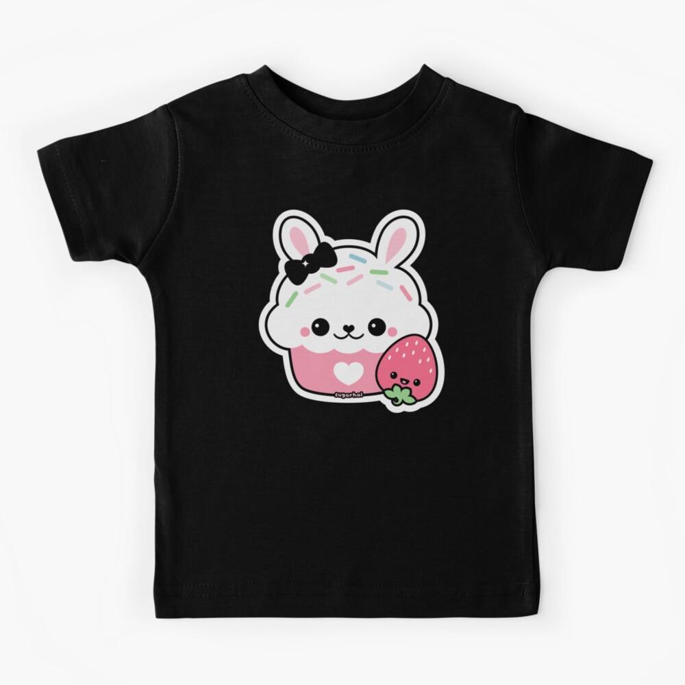 Cute Bunny Cake Kids T-Shirt