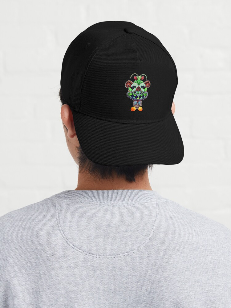 Alternate view of Phil the Mantis and his Magical Spaceship Cap
