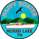 HAPPY BOATER NORRIS LAKE TENNESSEE TN BOAT BOATING CAMPER by MyHandmadeSigns