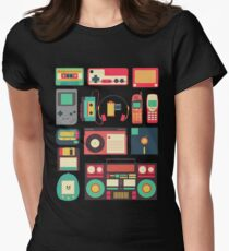 RETRO TECHNOLOGY 1.0 Women's Fitted T-Shirt