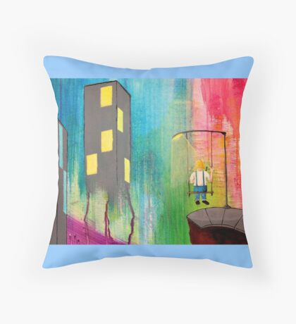 Alice's Trip to the City Throw Pillow