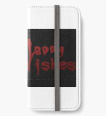 Bloody Wishes from Spike the Vampire - Halloween iPhone Wallet/Case/Skin