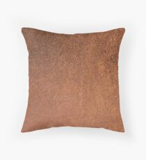 Rust Copper Shiny Metallic Throw Pillow