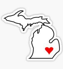 Michigan Love - Red Sticker