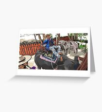 Elephant and Rider Greeting Card