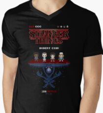 16-bit Stranger Things Mens V-Neck T-Shirt