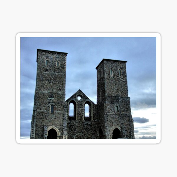 Reculver by twilight Sticker