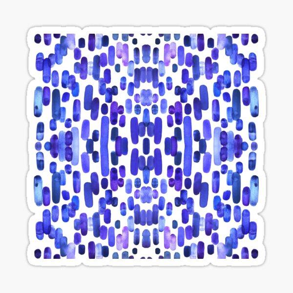 Lila Regen Sticker