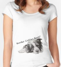 Border Collies Rock Women's Fitted Scoop T-Shirt