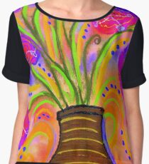 Psychedelic Bouquet Chiffon Top