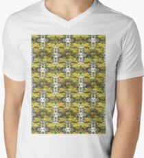 Autumn Sun rays #9, raindrops on apple pattern Men's V-Neck T-Shirt