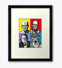 Classic Monsters of the Silver Screen Framed Print