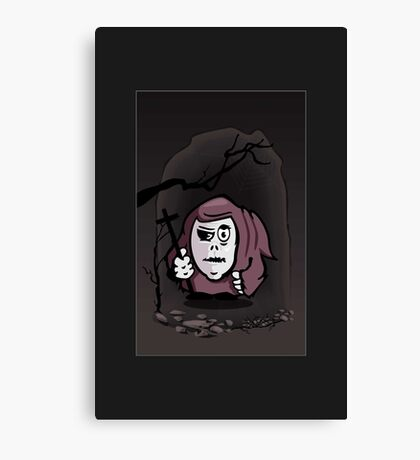 Monk in a Cave VRS2 Canvas Print