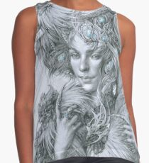 The fairy lady with fighting roosters Contrast Tank