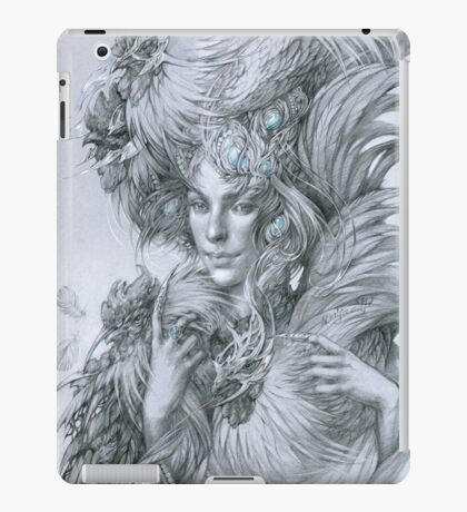 The fairy lady with fighting roosters iPad Case/Skin