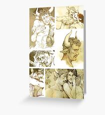 The Satyr and the Bull Greeting Card