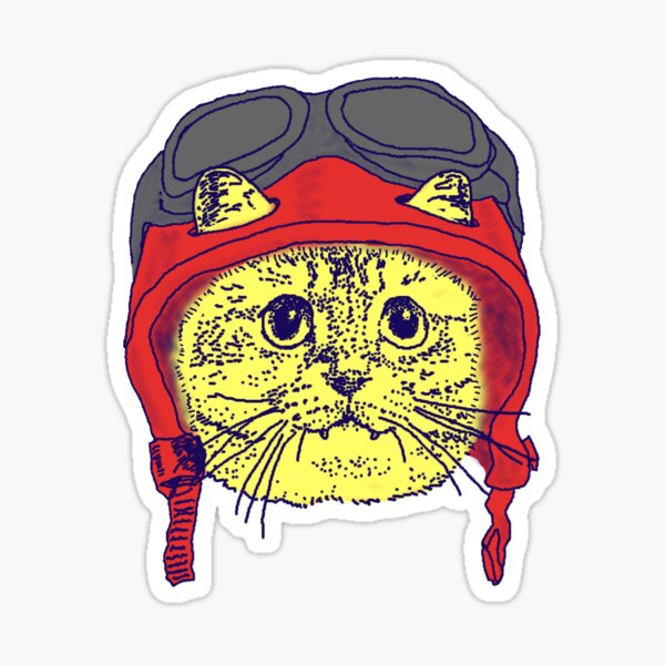 Moto Kitty Always Wears a Helmet for Safety Sticker