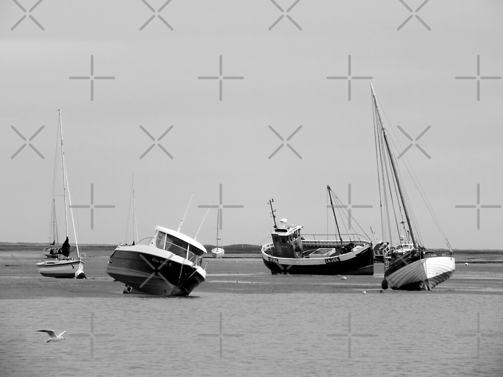 Burnham Overy Staithe Boats by Yampimon