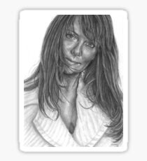 Amanda Tapping (from Dennys Ilic's book) Sticker