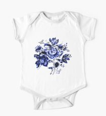 flowers Pen drawing One Piece - Short Sleeve