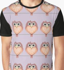 OWL WITH HEARTs Graphic T-Shirt