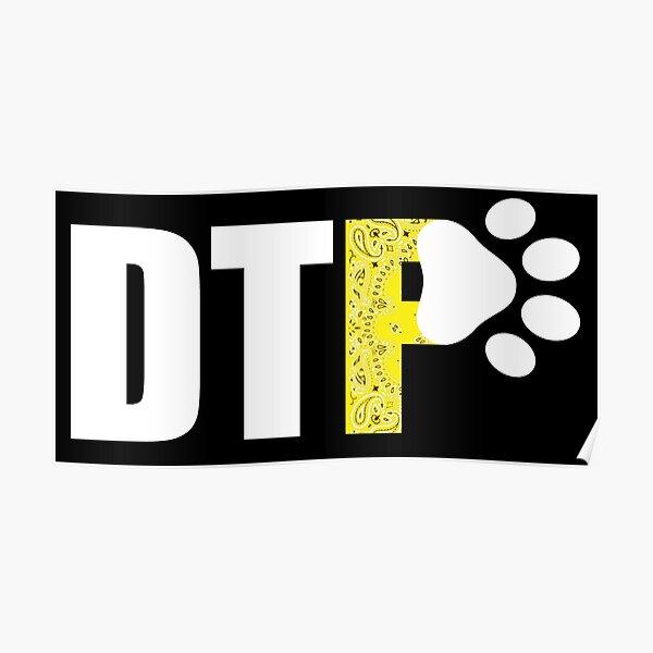 Hinunter zu Pup-Yellow Taschentuch Poster