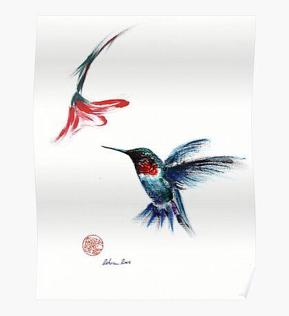 ANGEL - Hummingbird Painting Poster