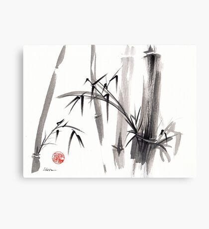 'after the rain' Original ink wash painting Canvas Print