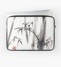 'after the rain' Original ink wash painting Laptop Sleeve
