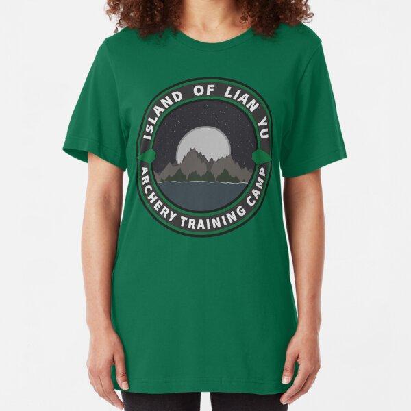 Island of Lian Yu - Archery Training Camp Slim Fit T-Shirt