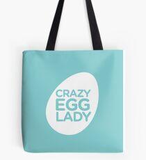 crazy egg lady- seafoam Tote Bag