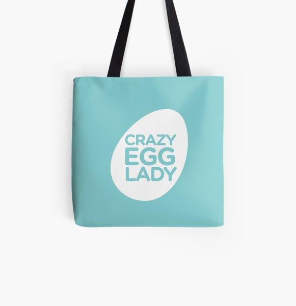 crazy egg lady- seafoam All Over Print Tote Bag