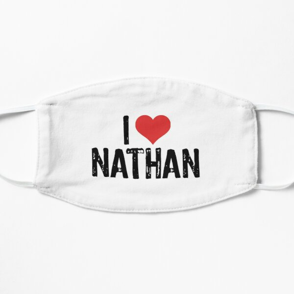 I Love Nathan Flat Mask