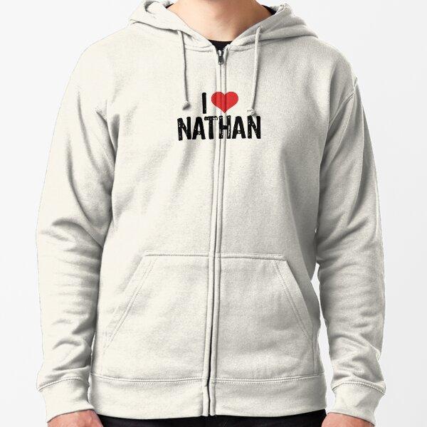 I Love Nathan Zipped Hoodie
