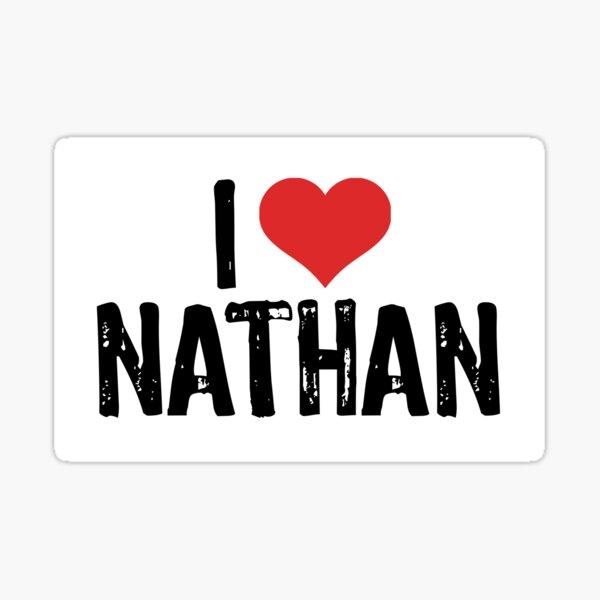 I Love Nathan Sticker