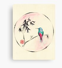'Little Muse'   hummingbird watercolor painting Canvas Print