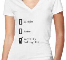 BTS - Mentally Dating Jin T-shirt femme moulant col V